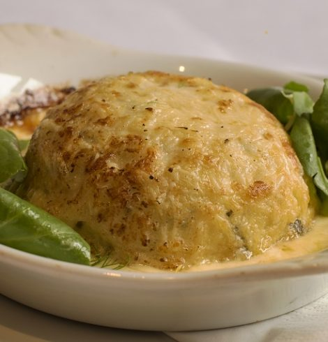 Twice Baked Cheese Soufflé from The Coach House Restaurant