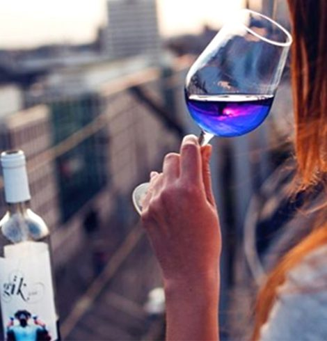 Anyone for Blue Wine? Gik Says Cheers to That