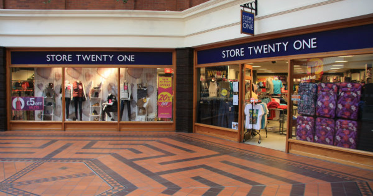 Store Twenty One having to Shutdown Stores