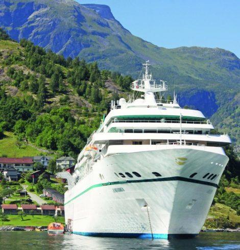 Cruise Liner, MS Amadea Docks in Swansea
