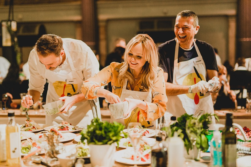 Jamie Oliver and UKHarvest raise over half a million pounds in the first-ever UK CEO CookOff
