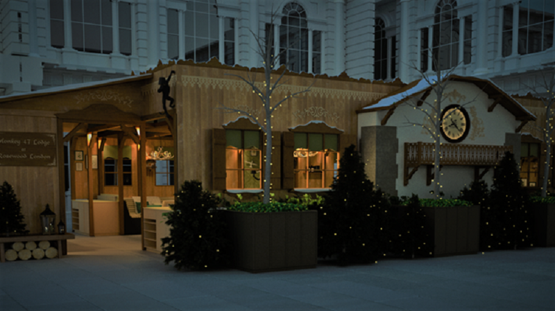 Monkey 47 Winter Lodge Open at Rosewood London