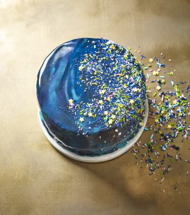Ginger and Lime Galaxy Mirror Glaze Cake from Dr Oetker