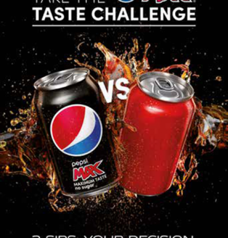 Pepsi MAX Launches Taste Challenge