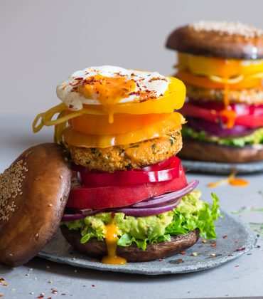 Rainbow Veggie 'Shroom Burger Recipe from Clarence Court's Ambassador Alpha Foodie