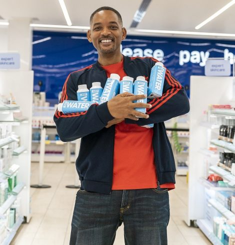 Will Smith Promotes JUST Water at Boots