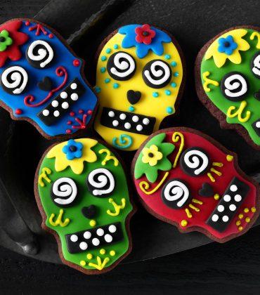 Halloween Chocolate Skull Cookies from Dr Oetker