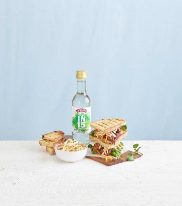Quick-Pickled Celeriac and Butternut Squash Rémoulade and Steak Sandwich