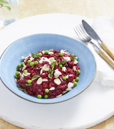 Beetroot, Garden Pea & Feta Risotto by Lorraine Pascale