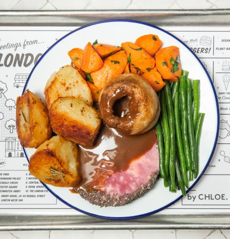 by CHLOE. Shares Its Vegan Sunday Roast Recipe