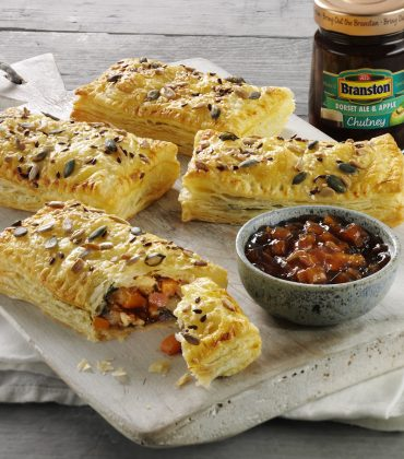 Veggie Cheese and Branston Dorset Ale & Apple Chutney  Puffs