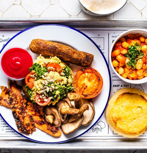 Vegan 'Full English' at by CHLOE.