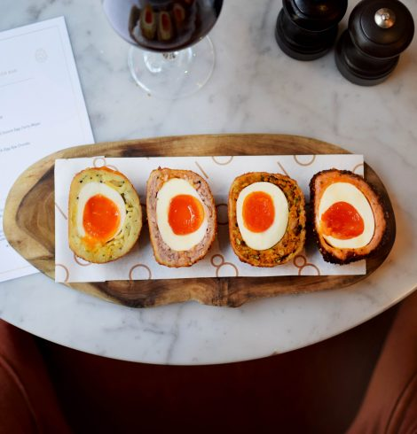 Easter 'Scotch' Eggs at The Bar at 108 Marylebone Lane
