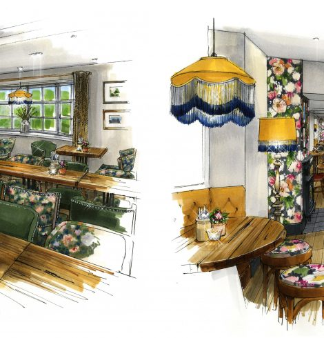 New Interior Revealed for The Chequers Inn