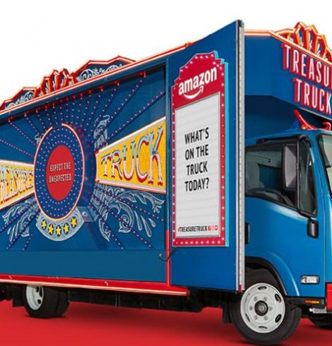 Amazon's Treasure Truck, a unique and fun-filled way to shop