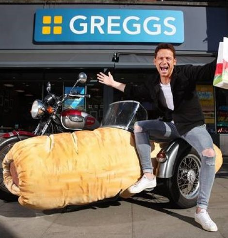 JUST EAT AND JOE SWASH UNVEIL WORLD'S FIRST SAUSAGE ROLL SIDECAR TO CELEBRATE THE LAUNCH OF GREGGS DELIVERY