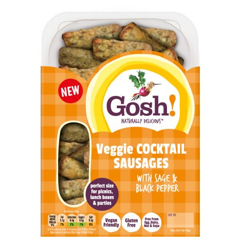 Gosh! Launches Plant-Based Cocktail Snacking Sausages