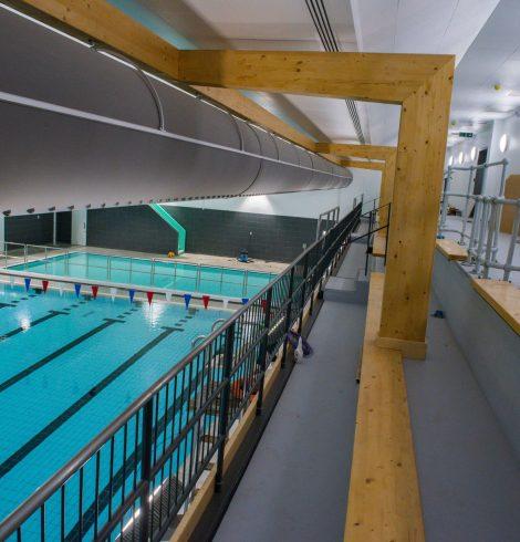 Temperature control in sports centres
