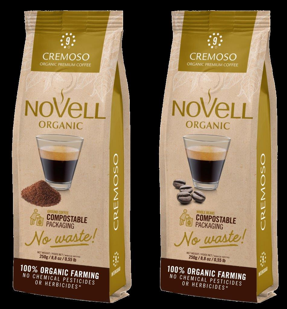Cafés Novell Launches the First Range of Ground Coffee in Compostable Packaging