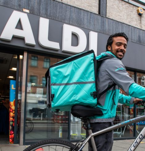 Aldi Doubles Trials with Deliveroo