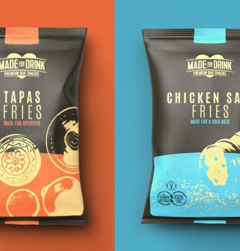 MADE FOR DRINK MAKES AUDACIOUS MOVE INTO UK's £1 BILLION POTATO CRISP CATEGORY WITH 'CHICKEN SALT' & 'TAPAS' FRIES
