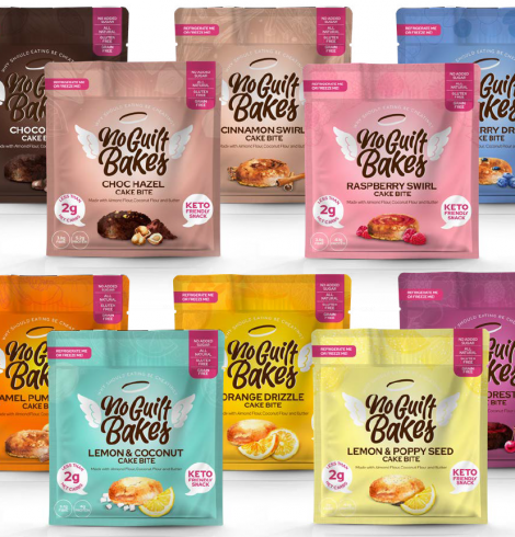 KETO-FRIENDLY. NO GUILT BAKES LAUNCHES 6-STRONG ON-THE-GO CAKES RANGE IN NEW VIBRANT, RECYCLABLE PACKAGING
